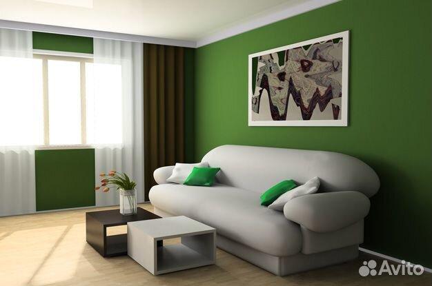 Цвет стен зала фото