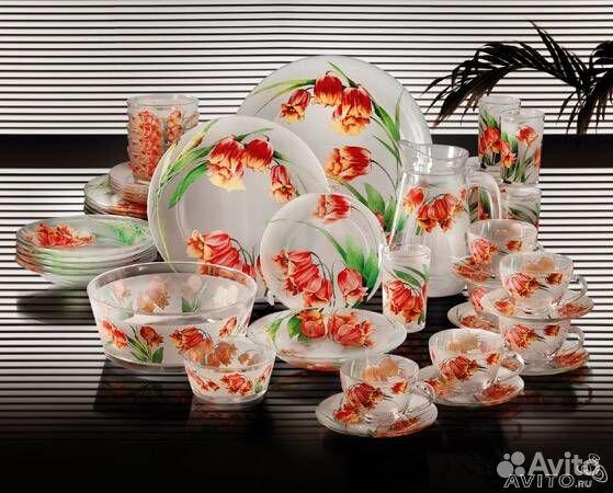Столовые наборы посуды Люминарк и Domenik