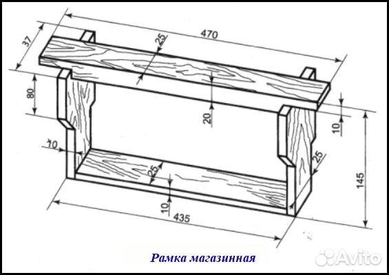 Размер рамок для ульев