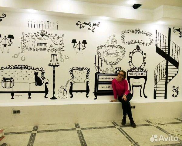 Росписи стен работа в москве