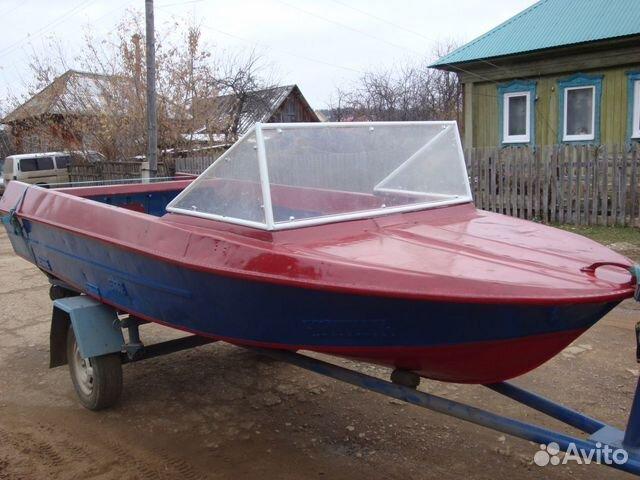 лодка крым с мотором б у на авито
