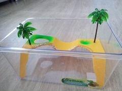 Аквариум Turtle Land для черепах + термометр
