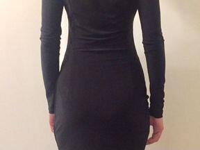 Prada. Короткое вечернее чёрное платье