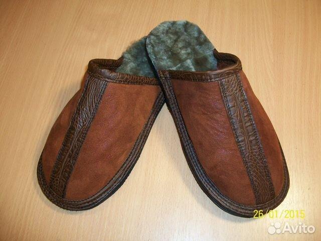 Домашняя обувь из старой дубленки
