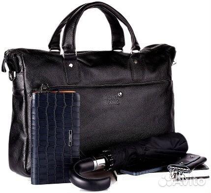 44f3c778e278 Мужская кожаная сумка Montblanс New мужские сумки купить в Москве на ...