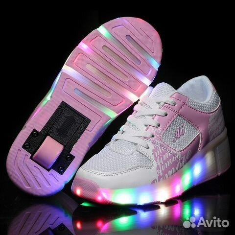 Кроссовки светящиеся на роликах ded7356fc5f87