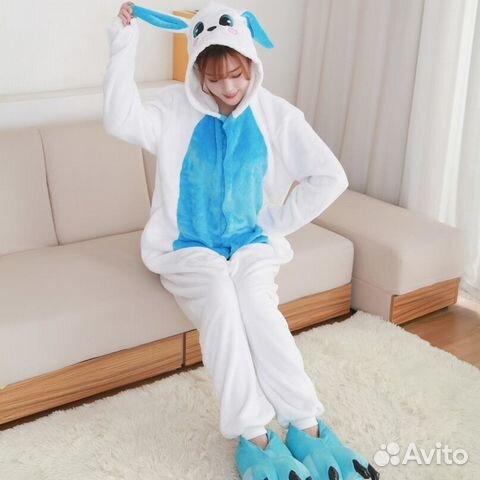 7933e05618ce Пижама (кигуруми) Зайчик голубой размер М | Festima.Ru - Мониторинг ...
