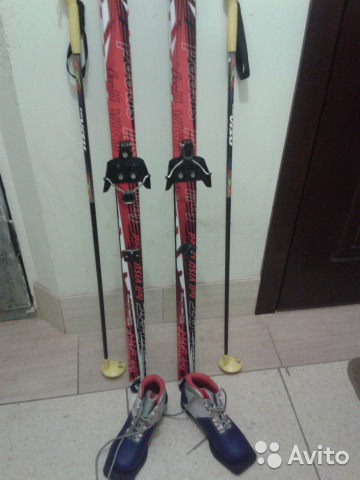 Лыжный комплект беговые лыжи 150 + ботинки 34р   Festima.Ru ... 0fd1bd056a5