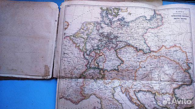 Старинные карты. Атлас Ильина, 19 век 89119196999 купить 4