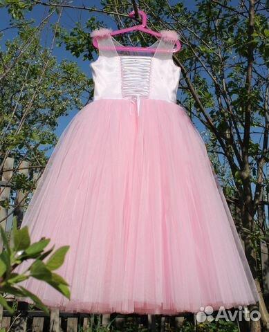 93c5683a771b727 Розовое пышное платье для девочки   Festima.Ru - Мониторинг объявлений