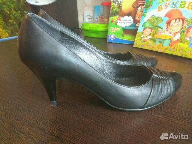 Туфли черные нат. кожа 35/36р  89650071720 купить 2
