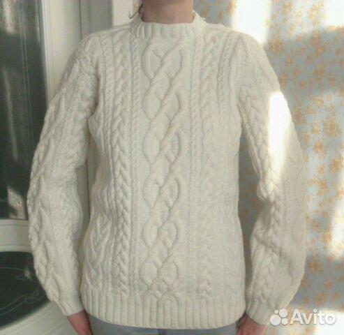 90e27dc2a99e7 Женский пуловер ручной вязки с косами 44-46р купить в Бурятии на ...