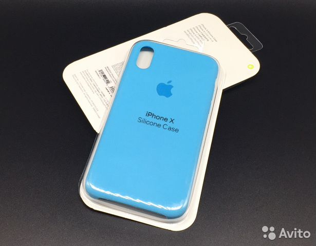 new arrival 58ed6 73736 iPhone 10 X Silicon Case AAA Sky Blue Голубой Х
