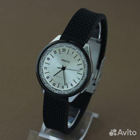 ddb402c389570 Ракета 24 часа Мировое время часы СССР в купить в Москве на Avito ...