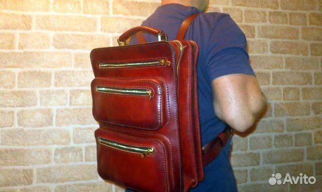 0b948a635315 Кожаный рюкзак ручной работы купить в Москве на Avito — Объявления ...