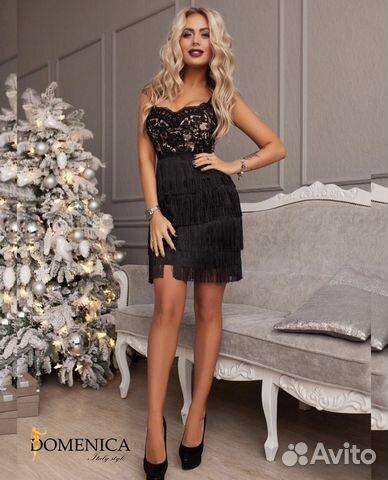 afcc1e1469d Вечернее платье с бахромой