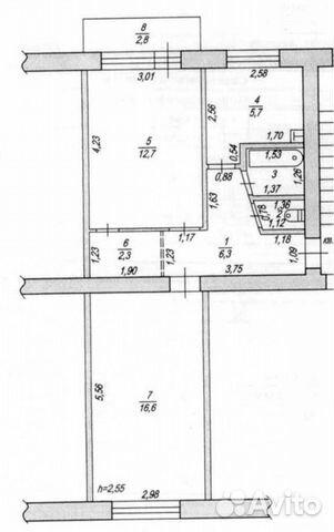 2-к квартира, 47.6 м², 4/5 эт. 89201169966 купить 2