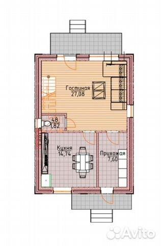 Коттедж 100 м² на участке 12 сот. 89587925197 купить 2