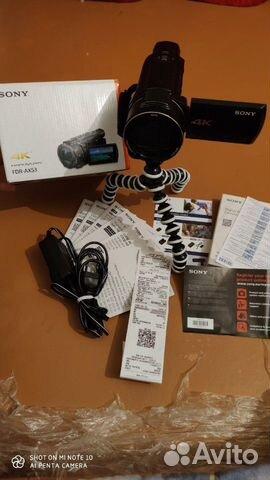 Sony FDR-AX53 4K видео  купить 8