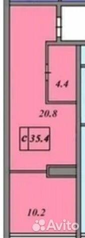 1-к квартира, 35 м², 4/8 эт.  89054056313 купить 1