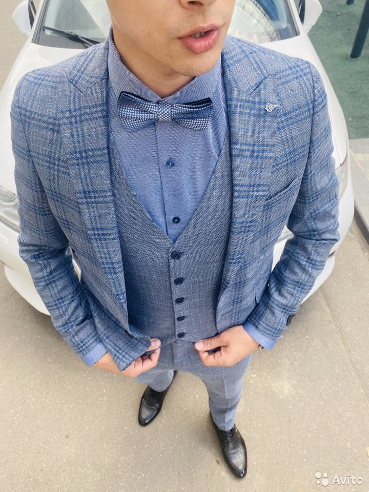 Серо синий костюм  89999758742 купить 5