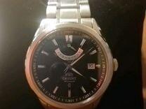 Orient, индикатор запаса хода,сапфир,литой браслет