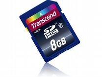 Флеш карта SD 8GB Transcend sdhc Class 10