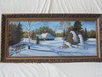 """Картина маслом """"Зима"""""""