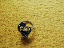 Серьги и кольцо,серебро комплект