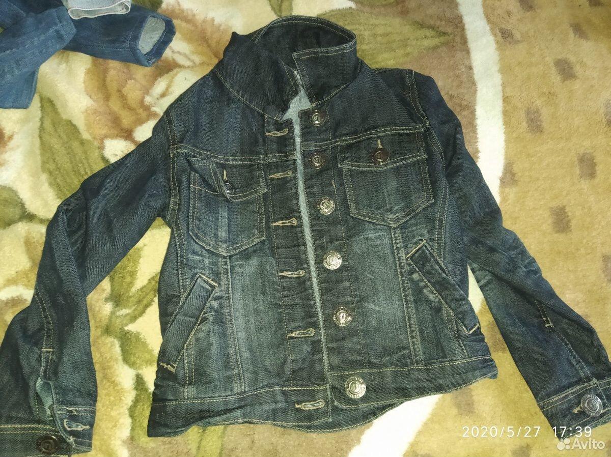 Джинсовые куртки и ветровка для девочки 7-8 лет  89109631283 купить 7