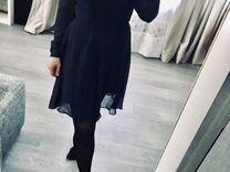 Шифоновое платье в горошек Befree