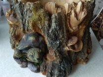 Кашпо Черепаха для цветов декоративное