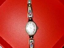 Часы чайка СССР финифть