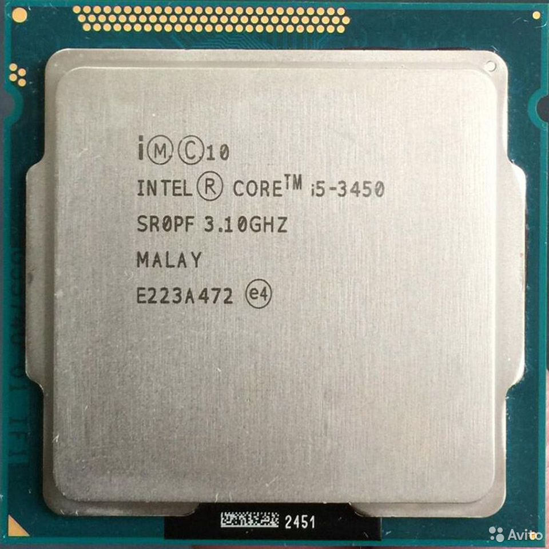 Процессор i5 3450 ivy bridge