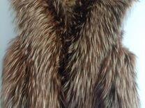 Новый Жилет из натурального меха лисы