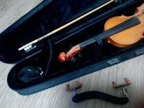 Скрипка 3/4 в чехле